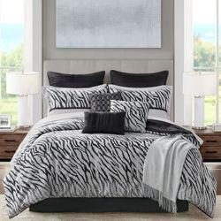 Kenya Comforter Bed Set Black