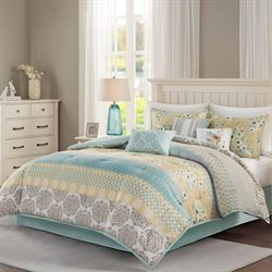 Willa Comforter Bed Set Multi Warm