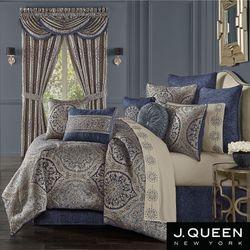 Botticelli Blue Comforter Set Navy