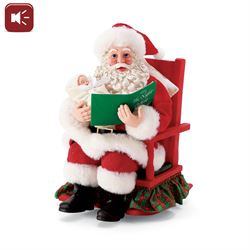 Babys First Christmas Story Clothtique Santa Figurine Red