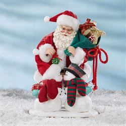 Snowy Kisses Clothtique Figurine Red