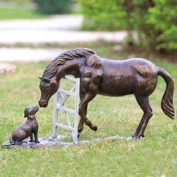 Barnyard Pals Horse Sculpture Antique Bronze