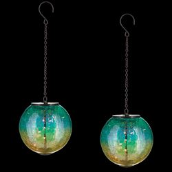 Kendell Pendant Solar Lanterns Multi Cool Set of Two