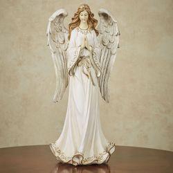 Angel Guardian Table Sculpture Antique Ivory