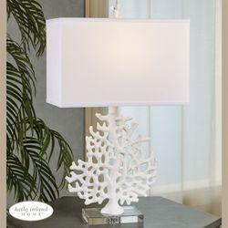 Kahala Coral Table Lamp Off White