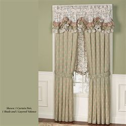Ashland Layered Ruffled Valance Multi Warm 72 x 18