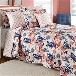 Sea Jewels Bedspread Coral