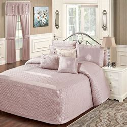 Silk Allure Grande Bedspread Dusty Mauve
