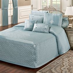 Silk Allure Grande Bedspread Sterling Blue