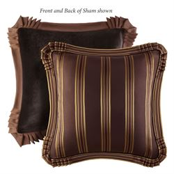 Coventry Flanged Tailored Sham Chocolate European