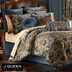 Cassandra Comforter Set Dark Blue