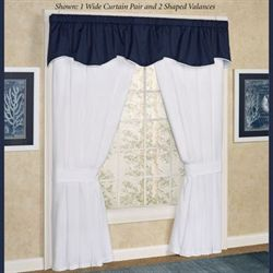 Regatta Tailored Wide Curtain Pair White 100 x 84