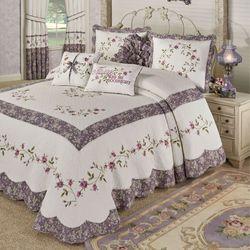 Ambrosia Grande Bedspread Violet