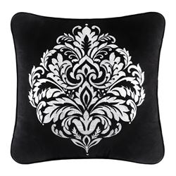 Cambridge Piped Pillow Black 20 Square