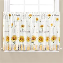 Bee Mine Sunflower Tailored Tier Pair Off White