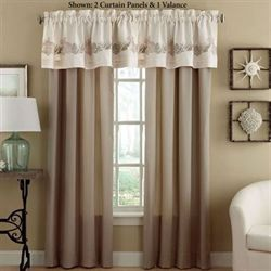 Seashore Tailored Curtain Panel Beige 42 x 84
