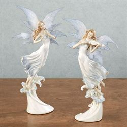 Fairy Orchestra Figurine Set Celestial Blue Set of Two