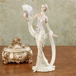 Parisienne Glamour Lady Figurine Ivory