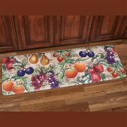 Natures Bounty Fruit Cushioned Kitchen Runner Mat