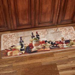 Wine Gathering Cushioned Runner Mat Multi Warm 55 x 20