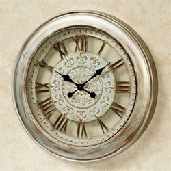 Calais Metal Wall Clock Light Bronze