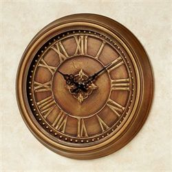 Jamison Wall Clock Antique Copper