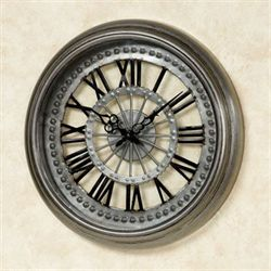Sawyer Wall Clock Gun Metal