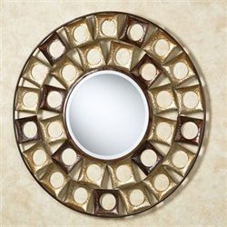 Giachetta Round Wall Mirror Multi Metallic