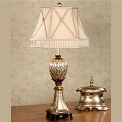 Alvina Table Lamp with CFL Bulb Champagne Gold