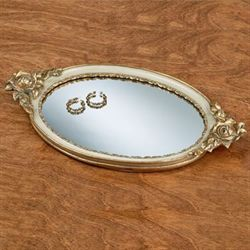 Eliza Rose Vanity Tray Ivory/Gold