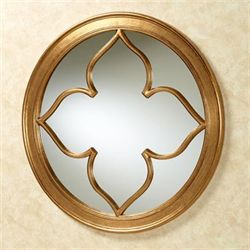Contempo Round Wall Mirror Gold
