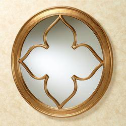 Contempo Round Wall Mirror Gold