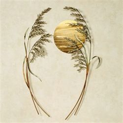 Sea Oats Metal Wall Sculptures Multi Metallic Set of Two