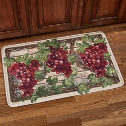 Grape Harvest Rectangle Kitchen Mat Multi Warm 35 x 22