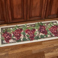 Grape Harvest Kitchen Runner Mat Multi Warm 55 x 20