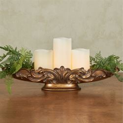 Astrella Decorative Centerpiece Tray Only Aged Gold