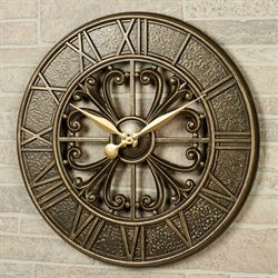 Villa Nova Wall Clock Bronze