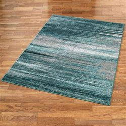 Stormy Skies Rectangle Rug Teal