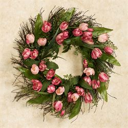 Tulip Floral Wreath Multi Pastel