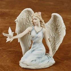 Kneeling Angel Figurine Multi Pastel
