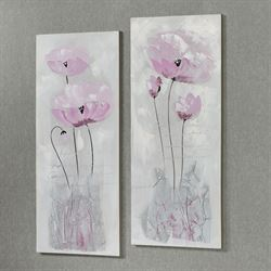 Purple Haze Floral Canvas Wall Art Set of Two