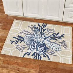 Indigo Sound Accent Rug Blue/Tan 36 x 24