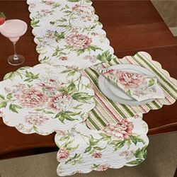 Pink Brianna Table Runner Multi Pastel 14 x 51