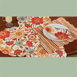 Giselle Rectangle Placemats Multi Warm Set of Four