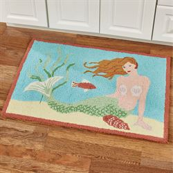 Mermaid Accent Rug Multi Bright 34 x 22