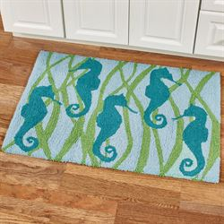 Seahorse Accent Rug Multi Cool 34 x 22