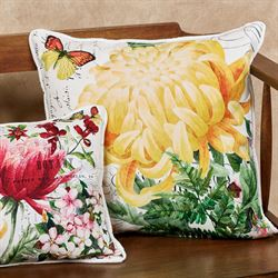Morning Blossoms Rectangle Accent Pillow Multi Bright 18 x 12