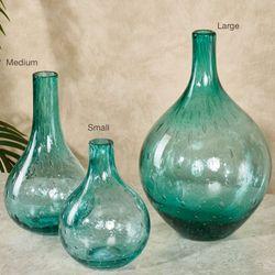 Coastal Flare Vase Aqua