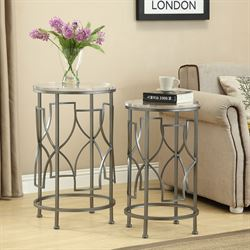 Addison Nesting Tables Nickel Set of Two