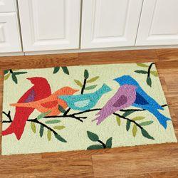 Morning Songbirds Accent Rug Light Green 33 x 21